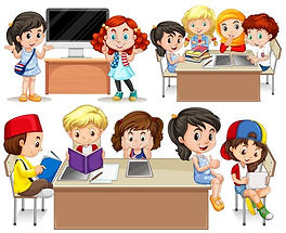 children-studying-at-their-desk-vector.j