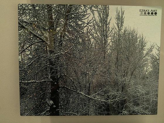 Snow Branch Print