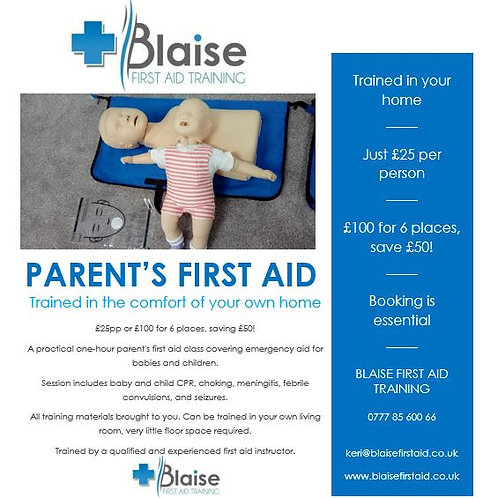 Parent's First Aid - at home
