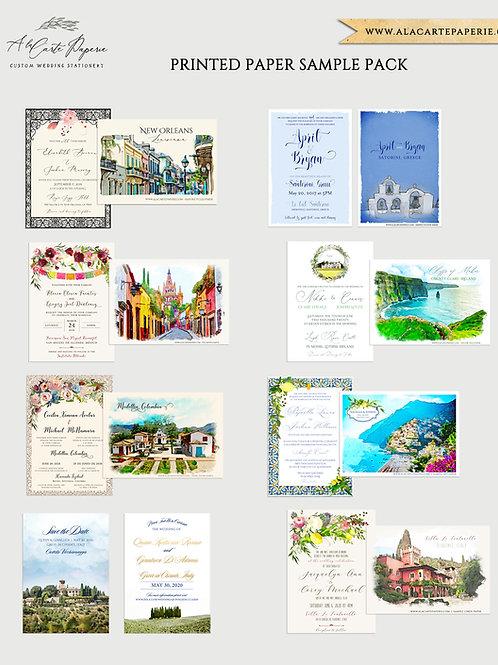 Printed Paper Sample Pack