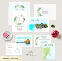 Mexico Tulum Beach Destination wedding set