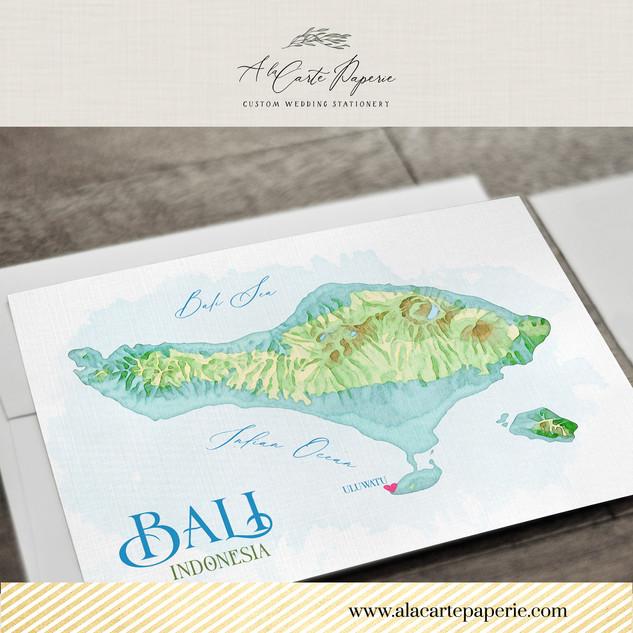Bali Indonesia Map