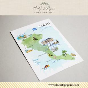 Corfu Greece Map