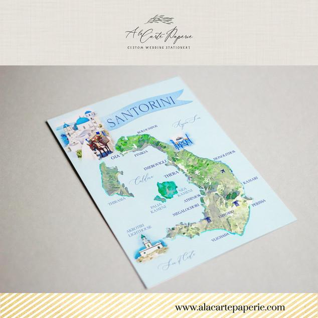 Santorini Greece Map