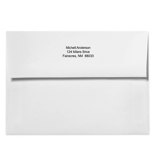 Return address printing