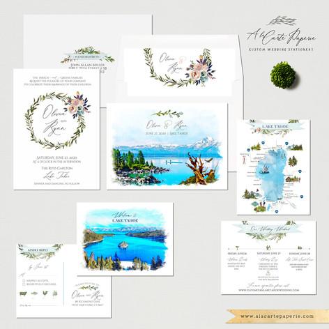 Lake Tahoe Destination wedding set