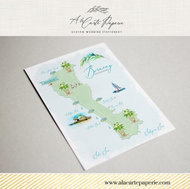 Map of Boracay A la Carte Paperie