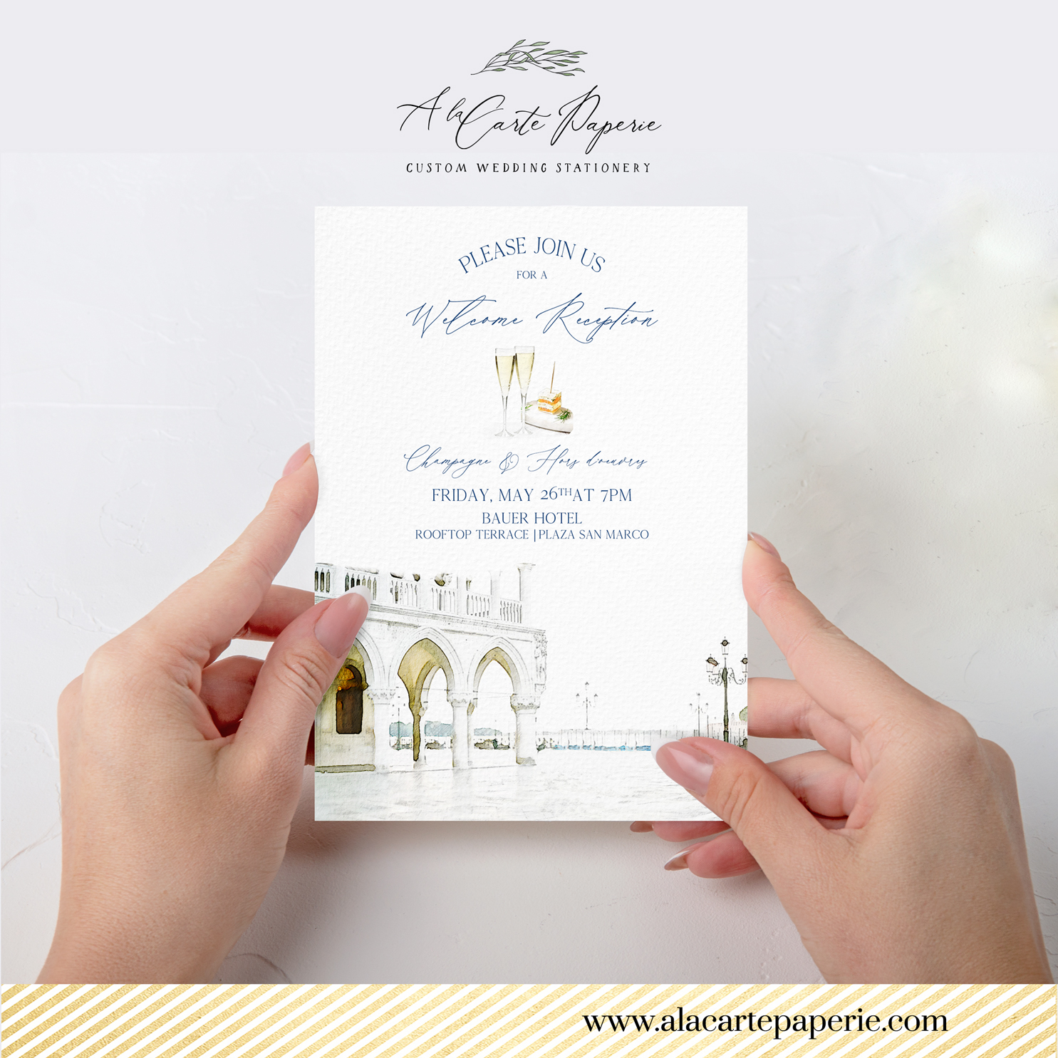 Venice Italy Custom Wedding Set