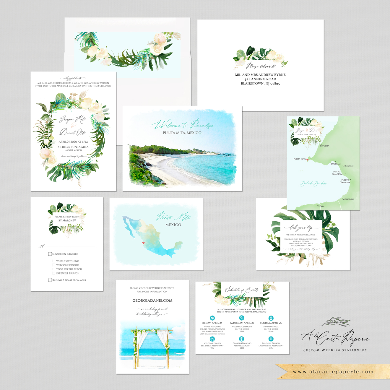 Montreal Wedding Invitations: CUSTOM DESIGN