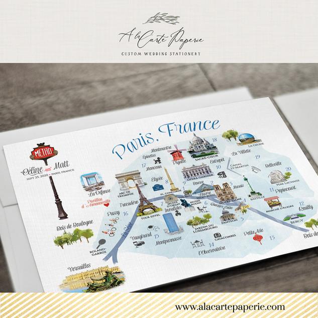Paris France Map