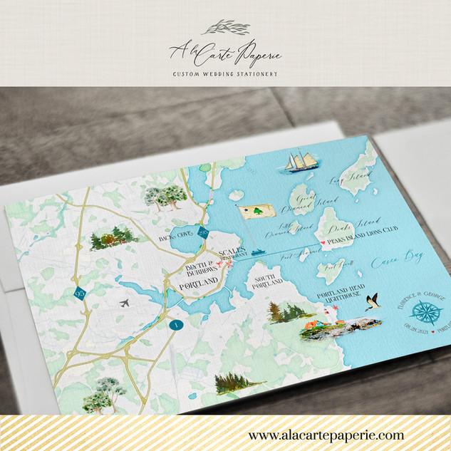 Portland ME Maine map