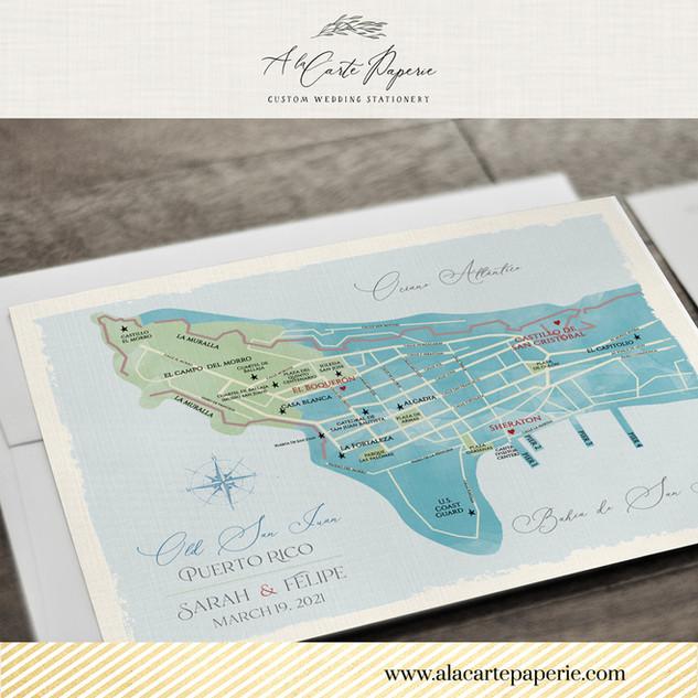 Puerto Rico Old San Juan Map