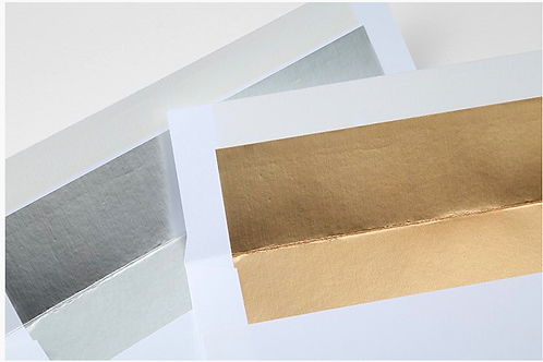 Foil lined white envelopes