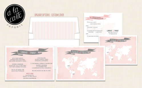 Destination Wedding Invitation Bilingual Rsvp Two Countries Hearts One Love
