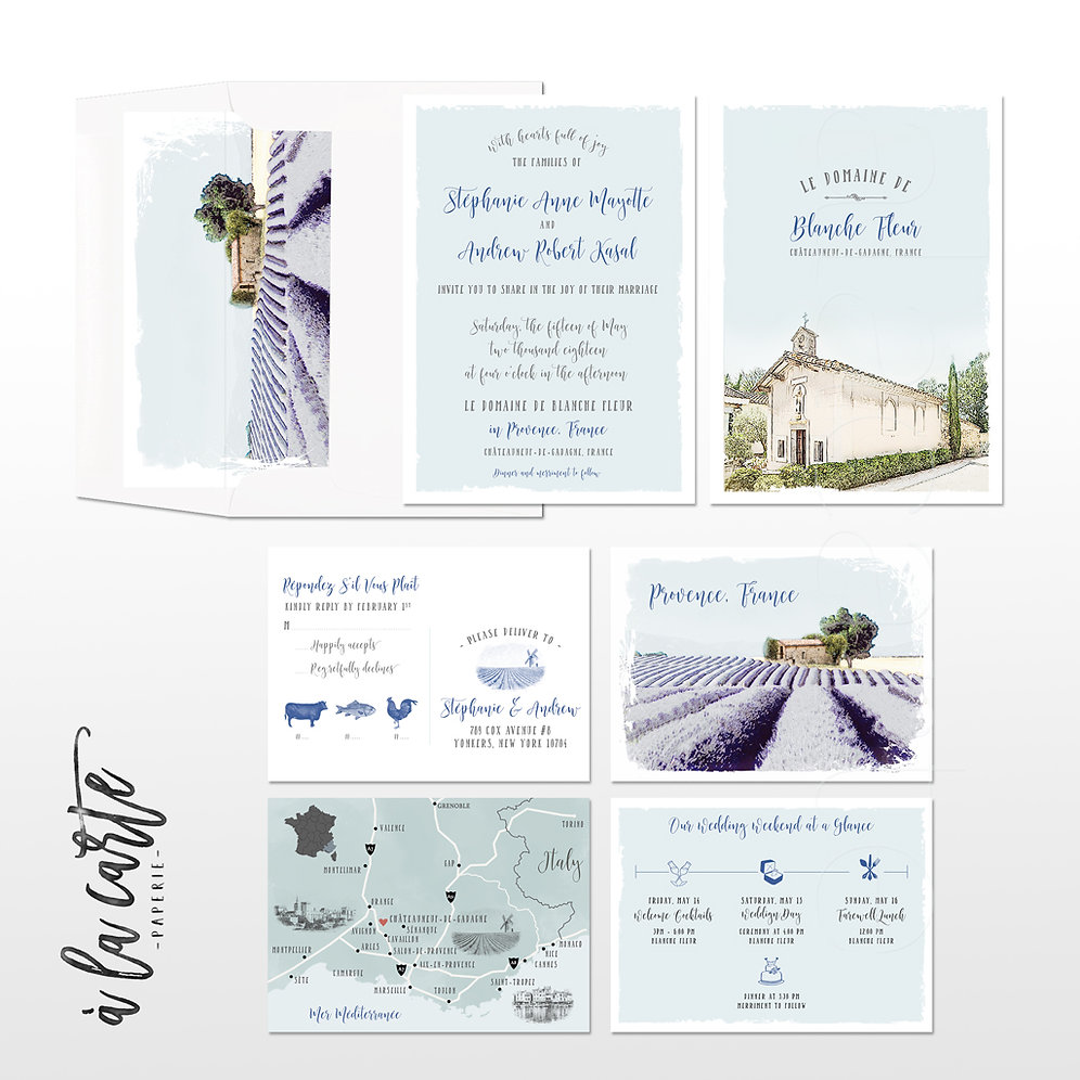 Provence South of France Illustrated Destination Wedding