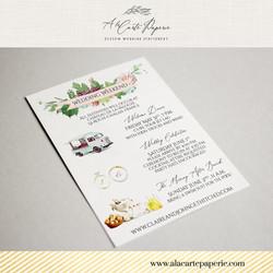 Bordeaux Custom Wedding Invitation
