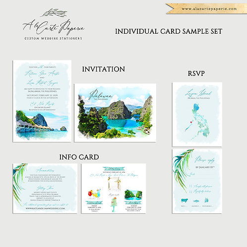 Individual Sample Card or Sample Sets