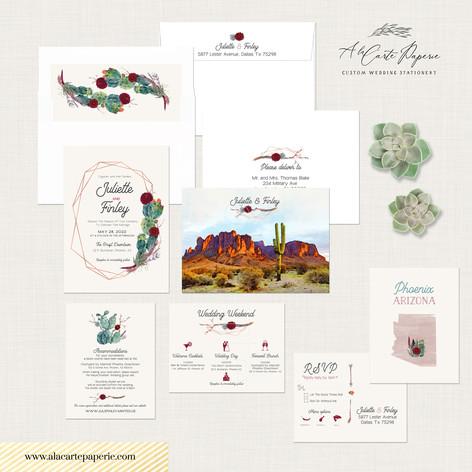 Phoenix Arizona Wedding Invitation Set