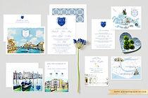Venice Italy Custom Wedding Set