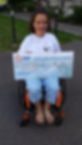 L'AAHVDA reçoit un chèque de soutien de EDF Fessenheim