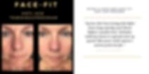 før og efter foto med ansigtsyoga