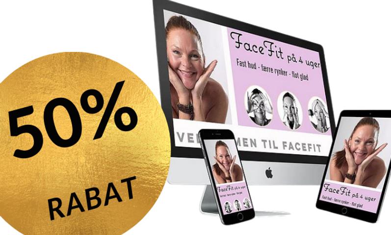 FaceFIT - Opstrammende og rynkereducerende træningsprogram til ansigt og hals.