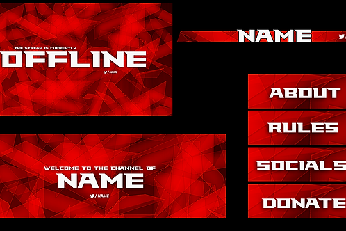 Red Triangle Premade Twitch Pack