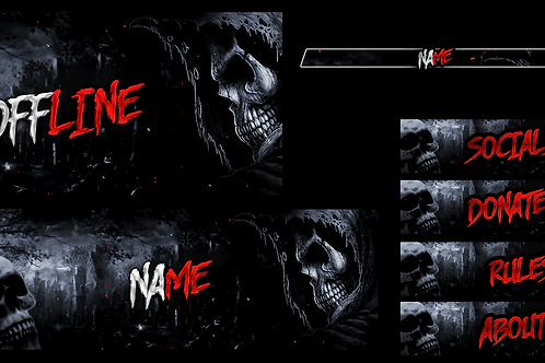Skeleton Premade Twitch Pack