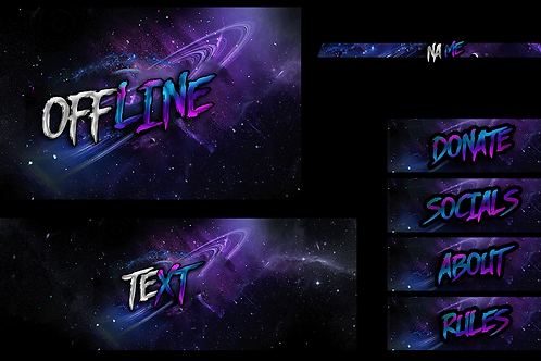 Space Pre Made Twitch pack