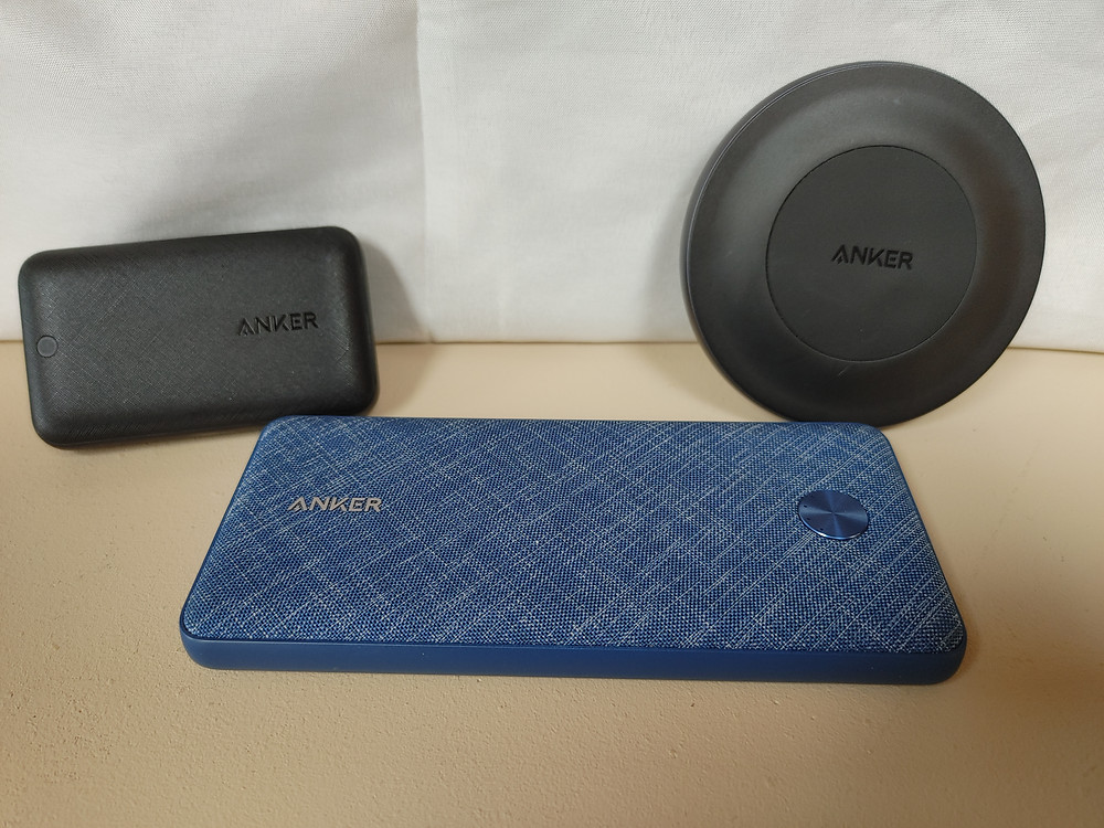 Anker charging products.