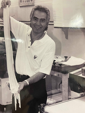 Tony Bartucci making Fresh Pasta at Pasta Fresh