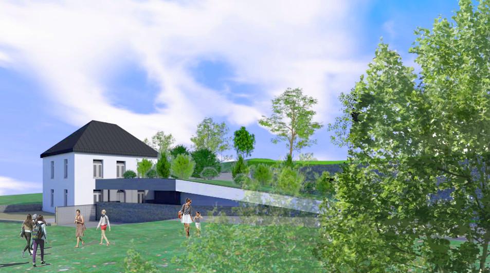 Transformation d'une brasserie et d'une maison en logements sociaux