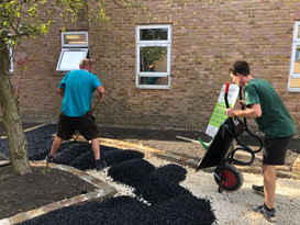 August 2019 Team effort to get the landscaping done by the 9th August deadline.