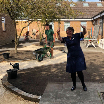 August 2019 Ward Sister Tracey Pemberton is pleased with progress!