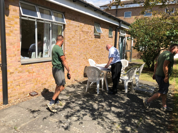 July 2019 Estates & Facilities pay a visit to the site to decide where the patio doors will be installed. This is essential for providing access to the garden for bed-bound Ward 6 patients.