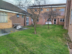 January 2018 The neglected piece of land outside the Stroke & Rehabilitation Ward is a fairly uninspiring place to be.