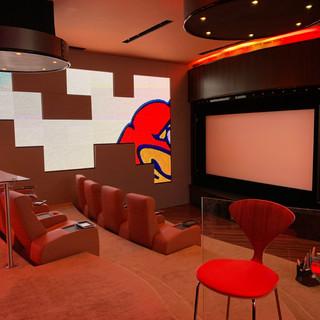Media Room Cleaned Carpet