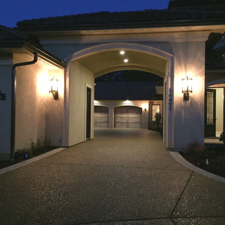 Driveway of residential home