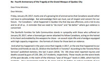 Letter from the Quebec Mosque to the Prime Minister