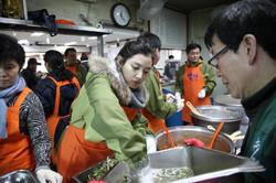 노숙인을 위한 급식봉사