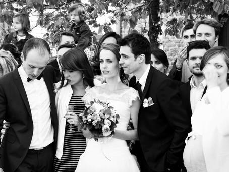 Des photographies en noir et blanc pour mon mariage
