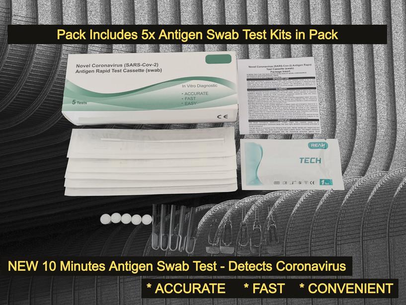 CORONAVIRUS Antigen Swab Test Rapid Test