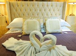Origami Towel Art Swan Lake