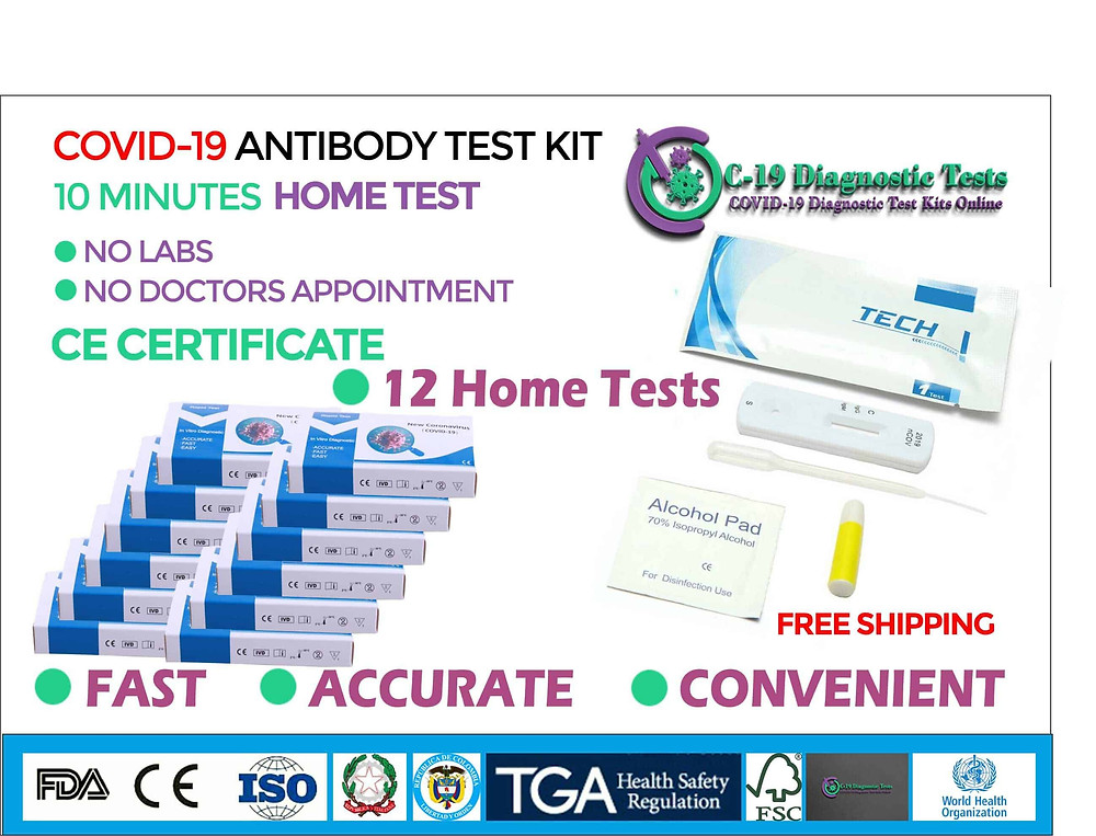 12 Covid 19 Home Tests, covid 19 test kits, cornavirus test kit for sale, covid 19 test kit for sale