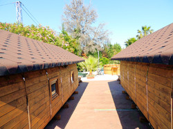 Luxury amping Pods, Log Cabins