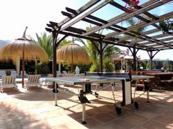 Luxury Pergola & Thatched Parasols