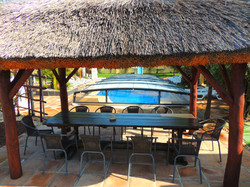 Thatched Roof Overlooking Pool
