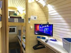Glamping Pods, WiFi Smart LED T.V