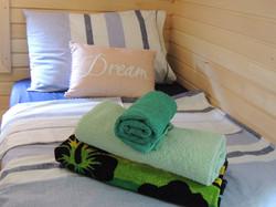 Log Cabins, Luxury Foam Beds