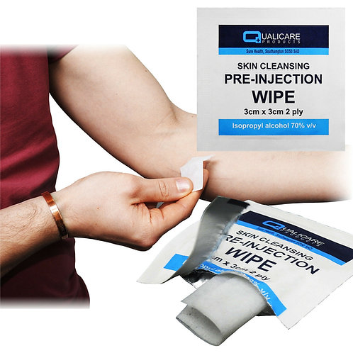 25x Qualicare 70% Isopropyl Alcohol Swabs Wipes